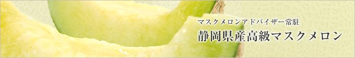 マスクメロンアドバイザー常駐 静岡県産高級マスクメロン
